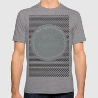 Hello Beautiful, Geometr… Mens Fitted Tee Athletic Grey SMALL