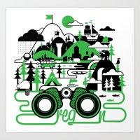 O is for Oregon Art Print