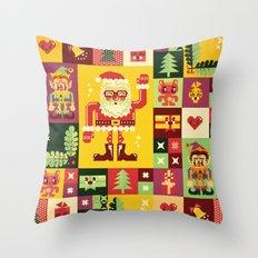 Christmas Geometric Patt… Throw Pillow
