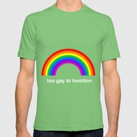 Too Gay To Function Mens Fitted Tee Grass SMALL