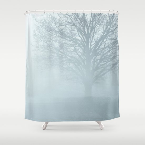 Tree / Winter Silence Shower Curtain