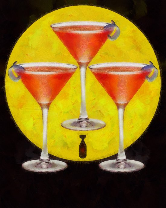atomic martini sunrise Art Print