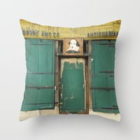 Paris Bookstore No. 2- Shakespeare And Company Photography Throw Pillow