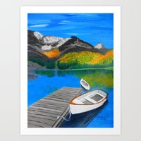 Summer Day On The Lake  Art Print