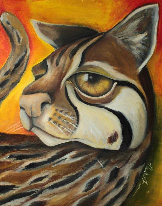 Ocelotta Paint Art Print