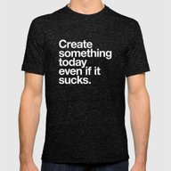 Create Something Today E… Mens Fitted Tee Tri-Black SMALL