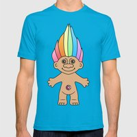 Troll Magic Mens Fitted Tee Teal SMALL