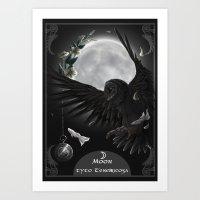 solar owls moon  Art Print