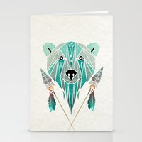 polar bear Stationery Cards featuring polar bear by Manoou