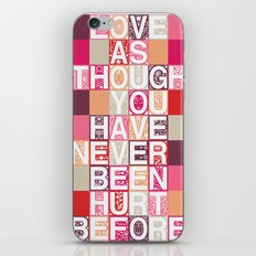 Love As Though iPhone & iPod Skin