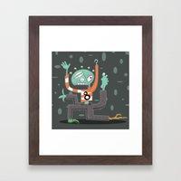 Crazy Alien Framed Art Print