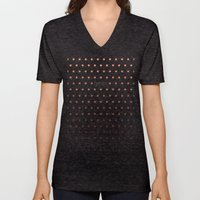 I'm a geek and I love polka dots Unisex V-Neck
