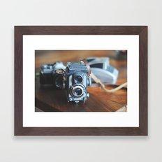 vintage cameras Framed Art Print