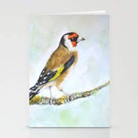 European Goldfinch On Tr… Stationery Cards