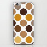 Big Loving Dots: Brown iPhone & iPod Skin