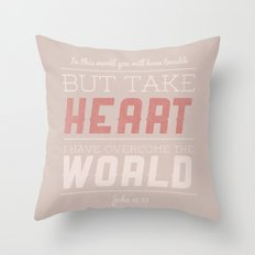 John 16:33 Throw Pillow