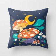 Goodnight Plume Throw Pillow