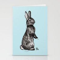 Blue Woodland Creatures - Rabbit Stationery Cards