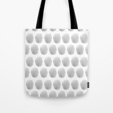 Watercolour polkadot grey Tote Bag