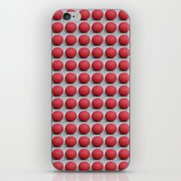 Round and Red 2 iPhone & iPod Skin
