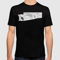 Deep Seasaw Diver Mens Fitted Tee Black SMALL