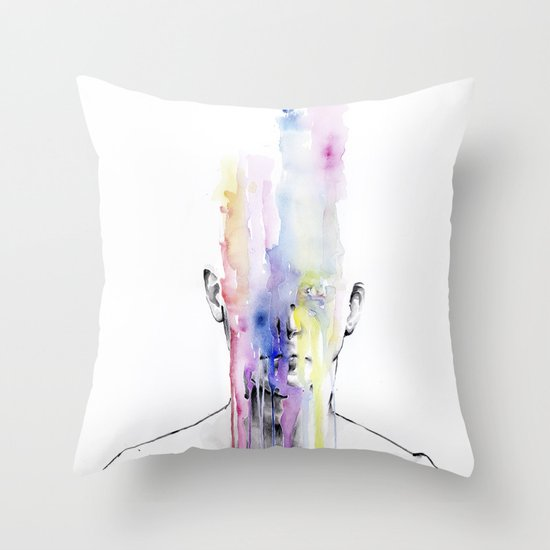 All my art is on you but you still don't hear me Throw Pillow