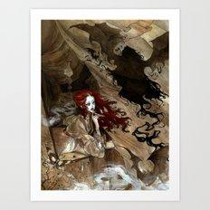 Dracula Calls Art Print