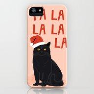 Black Cat Cute Fa La La … iPhone (5, 5s) Slim Case