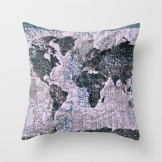 World Map Throw Pillow
