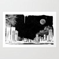 The city at night.. Art Print