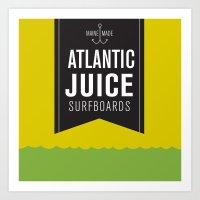 Atlantic Juice Art Print