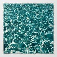 Pool Water Canvas Print