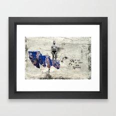 Sexy Man Mountain Framed Art Print