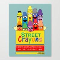 Color Me Sesame Canvas Print