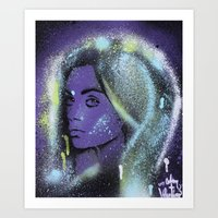Mila Kunis Stencil Portr… Art Print