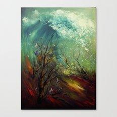 Wellen, die von der Unteren... Canvas Print