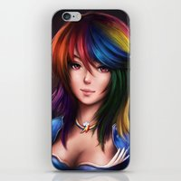 Rainbowdash iPhone & iPod Skin