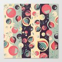 50's floral pattern II Canvas Print