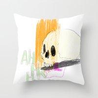 AHHHHHHR IT'S A SKULL (A… Throw Pillow