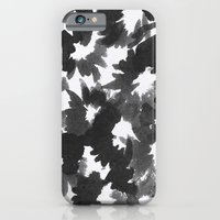 Black Flowers iPhone 6 Slim Case