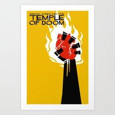 Indiana Jones and the Temple of Doom Minimal Movie Poster Art Print