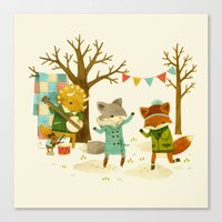 Critters: Spring Dancing Canvas Print