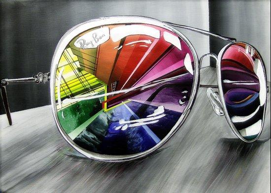 Psychedelic Sunglasses        Art Print