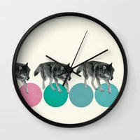 Hungry Wolves Wall Clock