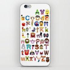 Sesame Street Alphabet iPhone & iPod Skin