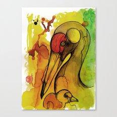 Big and Little Crane Canvas Print