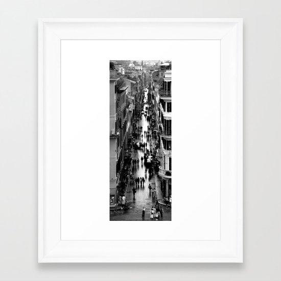 Rome, view from Spanish steps Framed Art Print