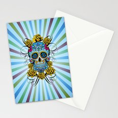 Sugar skull- Day of the dead- blue Stationery Cards