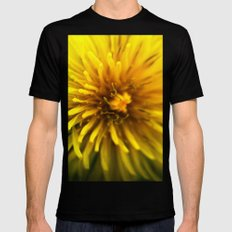 Dandelion  SMALL Mens Fitted Tee Black
