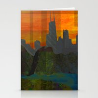 Sunset City (Chicago) Stationery Cards